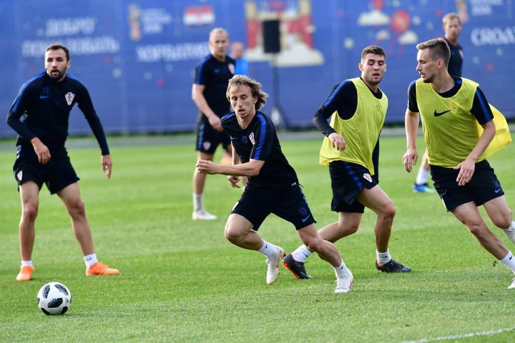 Luka Modric, a horvátok középpályása válogatottja edzésén Szentpéterváron, 2018. június 11-én #moszkvater