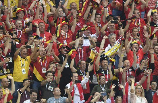 Szurkolók a Brazília - Belgium mérkőzésen Kazanyban, 2018. július 6-án #moszkvater