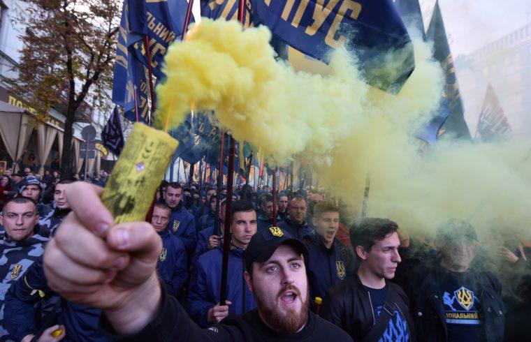 Nacionalista tüntetés Kijevben 2018. október 14-én #moszkvater