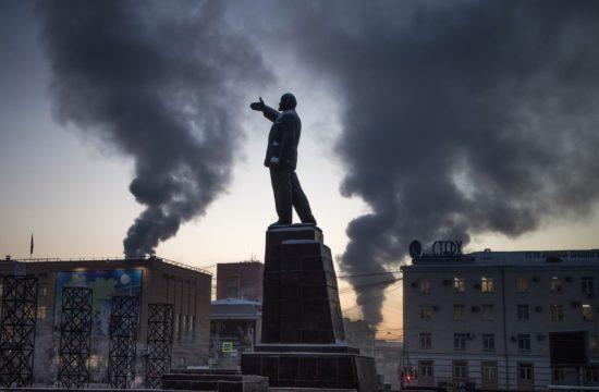 Lenin szobor a szibériai Jakutszkban #moszkvater
