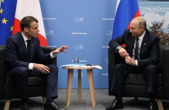 Emmanuel Macron és Vlagyimir Putyin megbeszélése a G20-ak argentínai találkozóján 2018. november 30-án Buenos Aires-ben #moszkvater