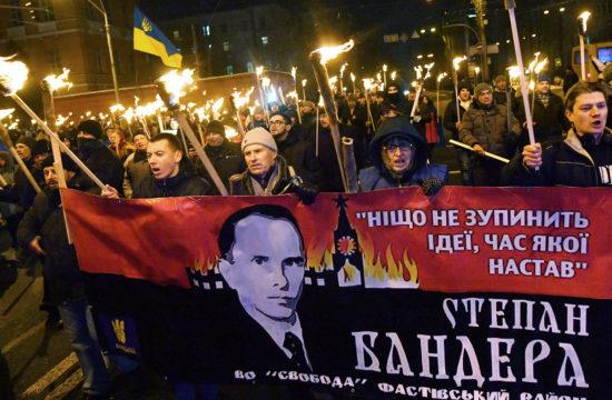 Sztepan Bandera, az ukrán nemzeti mozgalom vezetője születésének 110. évfordulóját ünneplik Kijevben 2019. január 1-én #moszkvater