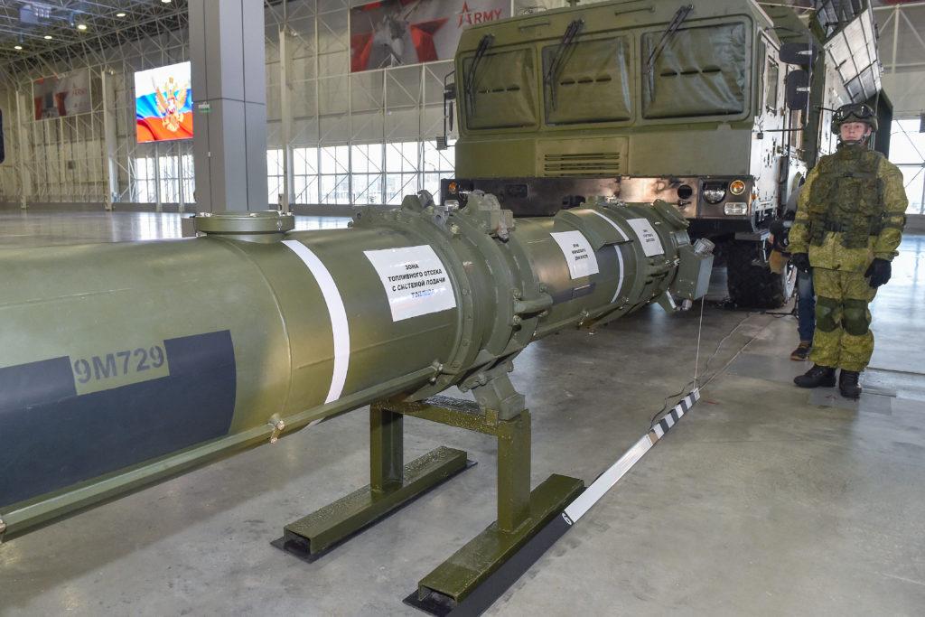 Az orosz védelmi minisztérium a moszkvai patrióta parkban mutatta be külföldi katonai attaséknak az amerikaiak által kifogásolt Iszkander-M 9N729 szárnyas rakétáját 2019. január 23-án #moszkvater