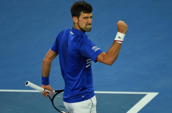Novak Djokovics a melbourne-i tenisztorna döntőjében, ahol legyőzte Rafael Nadalt 2018. január 27-én #moszkvater