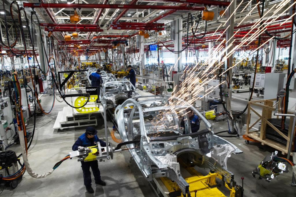 Gyártóüzem a Mercedes Moszkva melletti gyárában 2019. március 3-án #moszkvater