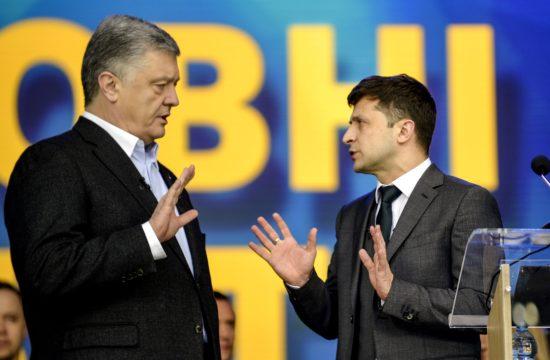 Petro Porosenko és Volodimir Zelenszkij ukrán elnökjelöltek vitája a kijevi központi stadionban 2019. április 19-én #moszkvater