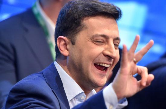 Volodimir Zelenszkij az ukrán elnökválasztás estéjén 2019. április 21-én #moszkvater
