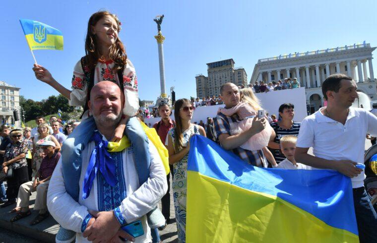 A Függetlenség napját ünneplő tömeg Kijevben 2019. augusztus 24-én #moszkvater