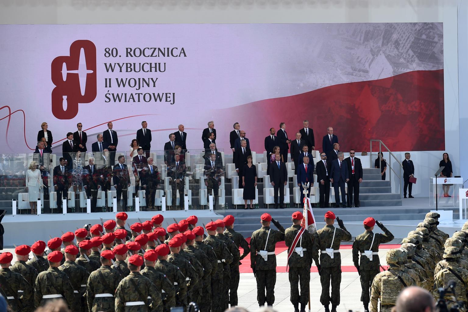 Megemlékezés a varsói Pilsudski téren a II. világháború kirobbanásának 80. évfordulóján 2019. szeptember 1-én #moszkvater