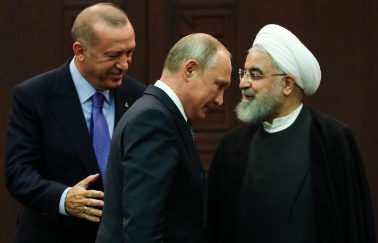 Recep Tayyip Erdogan török, Vlagyimir Putyin orosz és Haszan Rohani iráni elnök ankarai találkozójukon 2019. szeptember 16-án #moszkvater