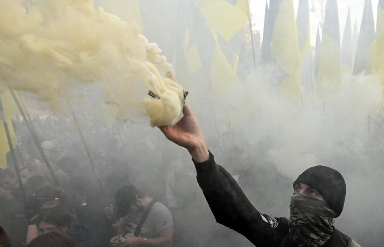 Ukrán nacionalisták tüntetése Kijevben 2019.október 14-én #moszkvater