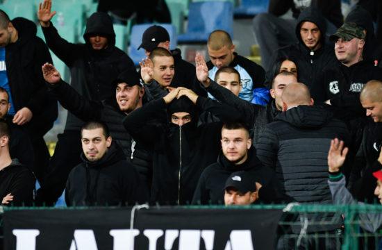 Bolgár szurkolók a Bulgária - Anglia Európa-bajnoki kvalifikációs mérkőzésen Szófiában, 2019. október 14-én #moszkvater