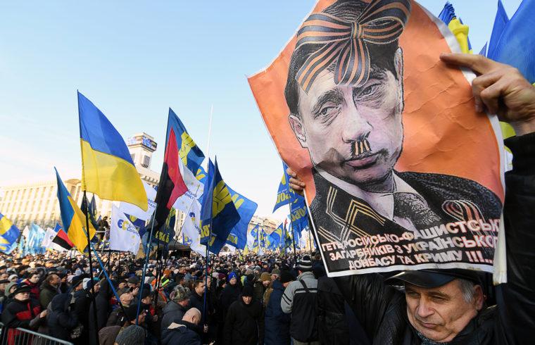 Oroszellenes tüntetés a kijevi Függetlenség terén 2019-ben #moszkvater