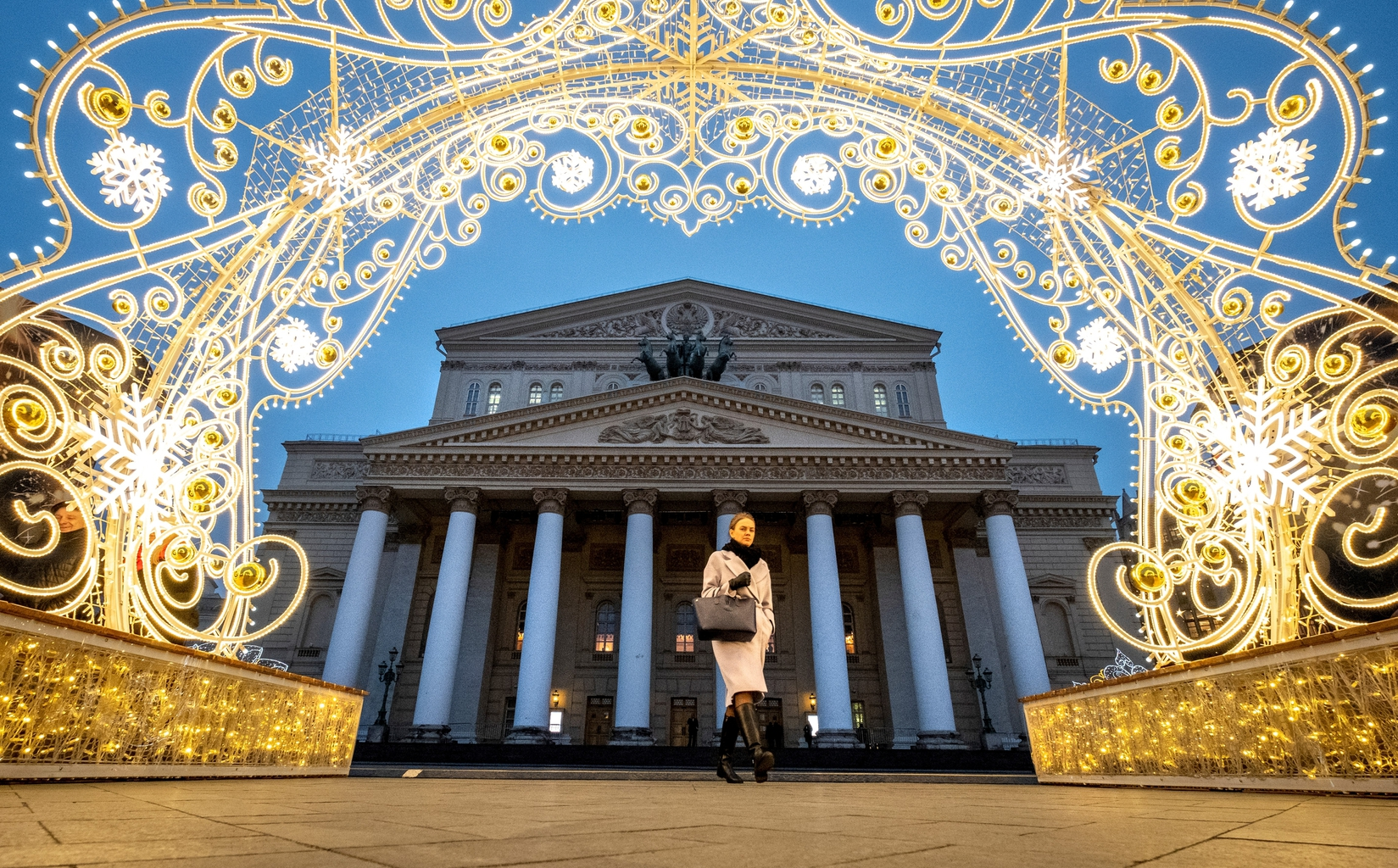 A moszkvai Bolsoj színház újévi díszben #moszkvater