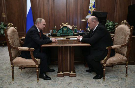 Vlagyimir Putyin találkozója Mihail Misusztyin kinevezett kormányfővel Moszkvában, 2020. január 15-én #moszkvater