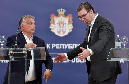 Orbán Viktor és Alekszandar Vucsics sajtótájékoztatója belgrádi találkozójuk után 2020. május 15-én #moszkvater