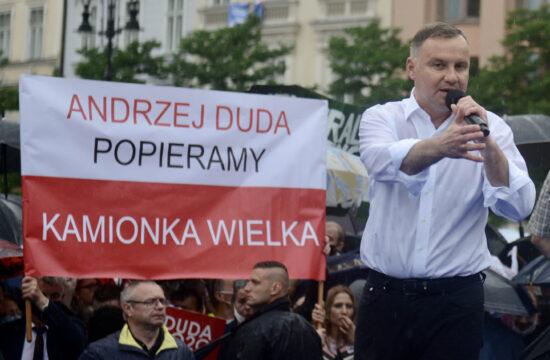 Andrzej Duda kampányol Krakkóban 2020. június 21-én #moszkvater