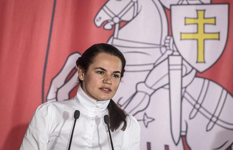 Szvetlana Tyihanovszkaja sajtótájékoztatója a lengyelországi belarusz közösség előtt Varsóban 2020. szeptember 9-én #moszkvater