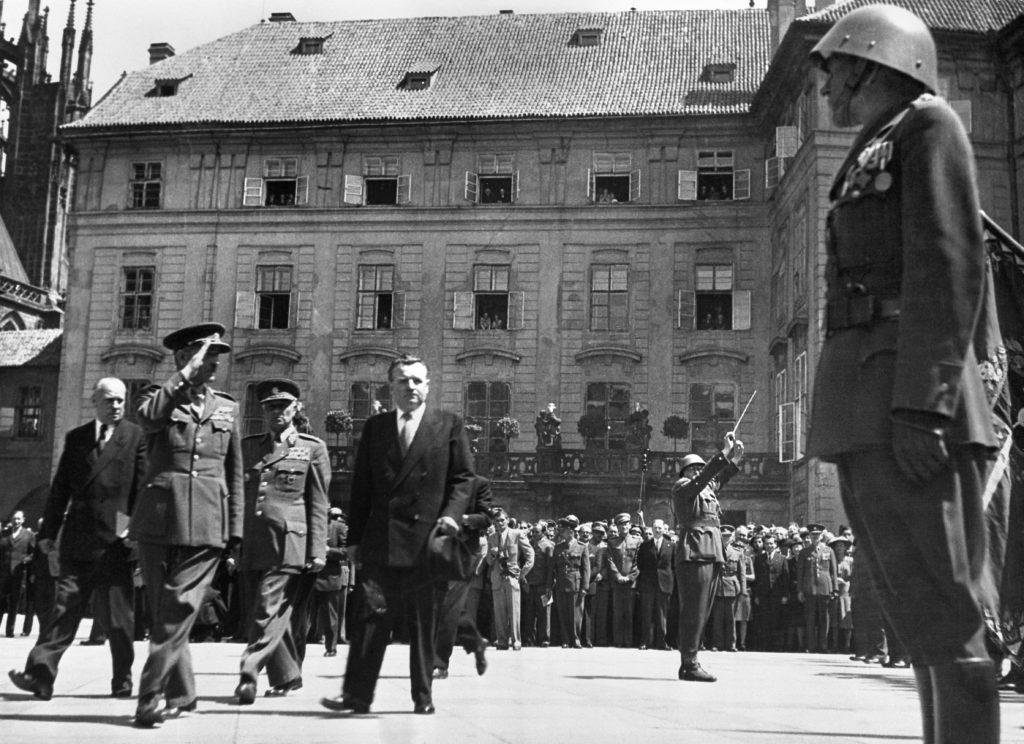 Klement Gottwald, Csehszlovákia megválasztott elnökeként a beiktatásakor a prágai Hradzsinban 1948. június 15-én Fotó:EUROPRESS/AFP #moszkvater