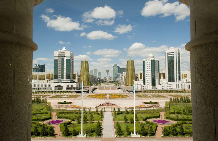 Asztana látképe az elnöki palotából #moszkvater
