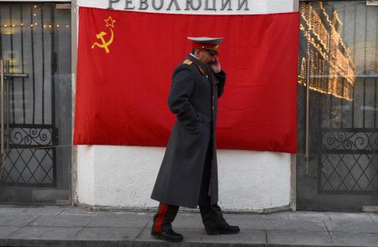 Sztálin hasonmás a Krelml előtt Moszkvában, 2016-ban #moszkvater