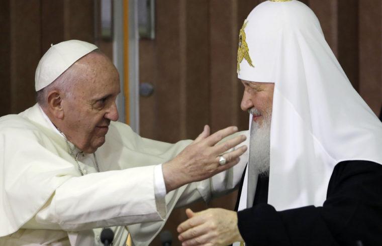 Ferenc pápa és Kirill pátriárka történelmi első találkozója Havannában 2016. február 12-én #moszkvater