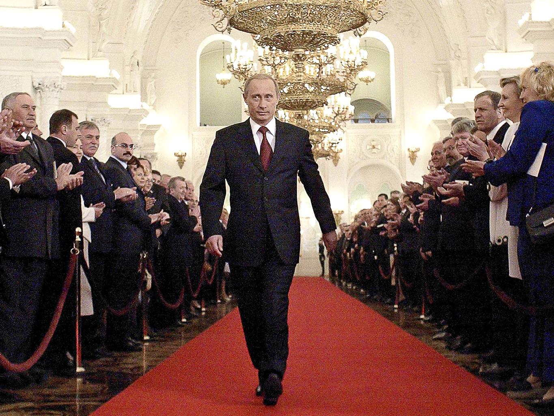 Vlagyimir Putyin a Kreml Szent György termében vonul be 2004-es beiktatására #moszkvater