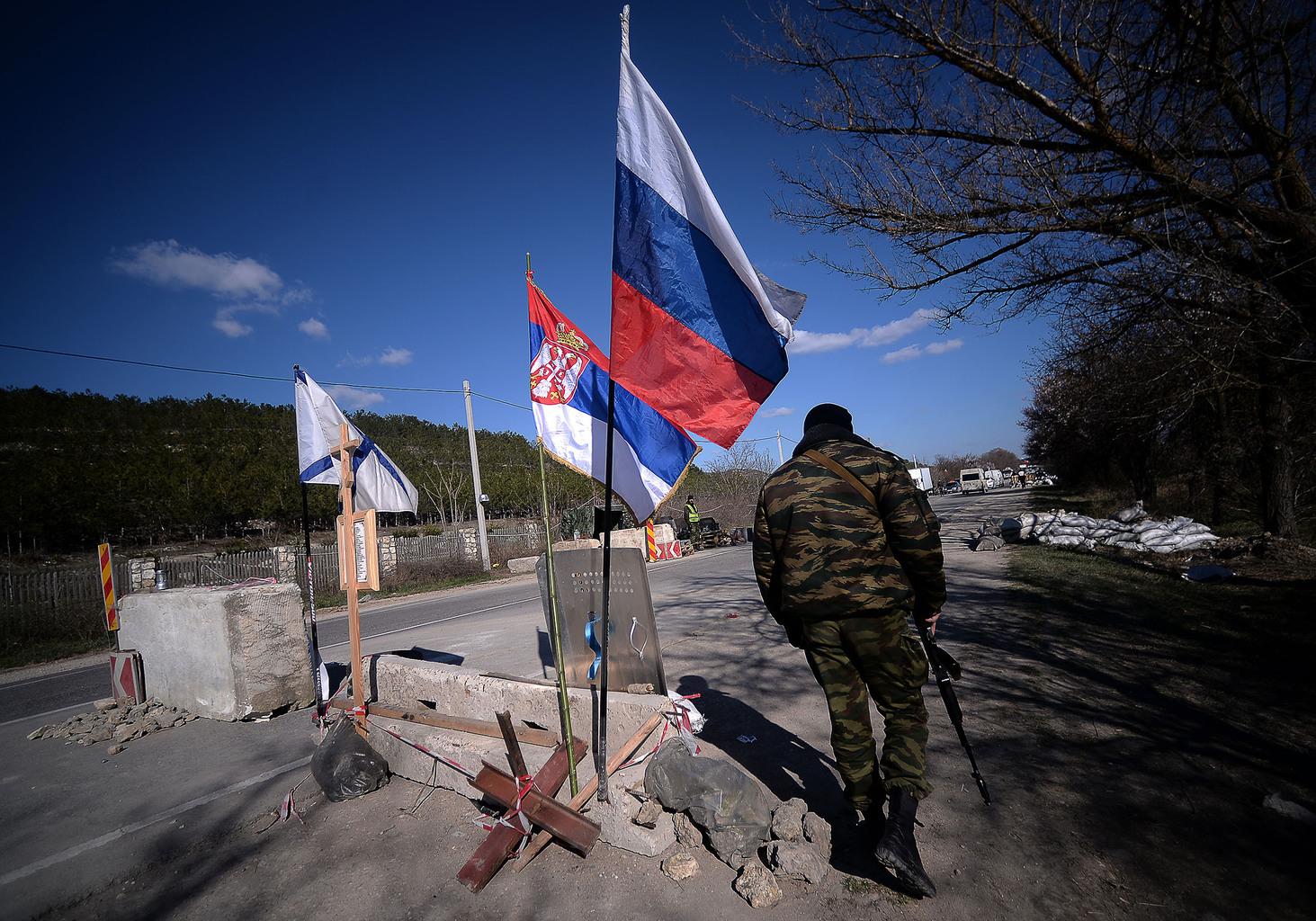 Orosz katonai ellenőrzési pont Szimferopol közelében 2018-ban #moszkvater