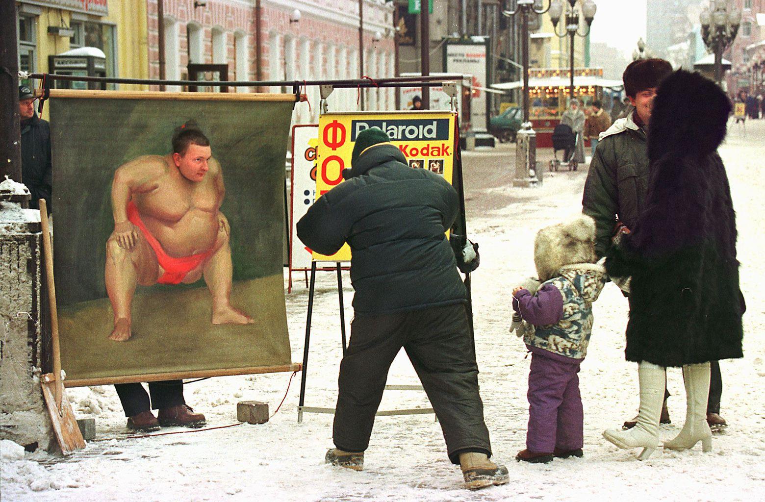 Utcai fotográfus Moszkvában 1998-ban #moszkvater