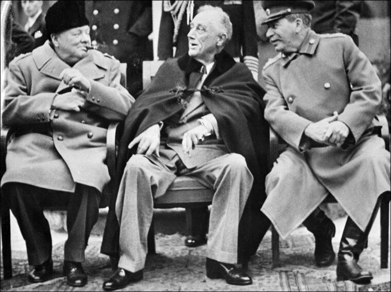 Churchill, Roosevelt és Sztálin Jaltában, 1945-ben #moszkvater