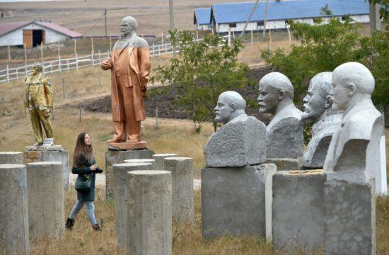 Lenin szobrok a Szocialista realizmus szobrainak múzeumában Dél-Ukrajnában, Frumushyka-Novában, Odesszától 170 kilométerre Fotó:EUROPRESS/AFP/Sergei Supinsky #moszkvater