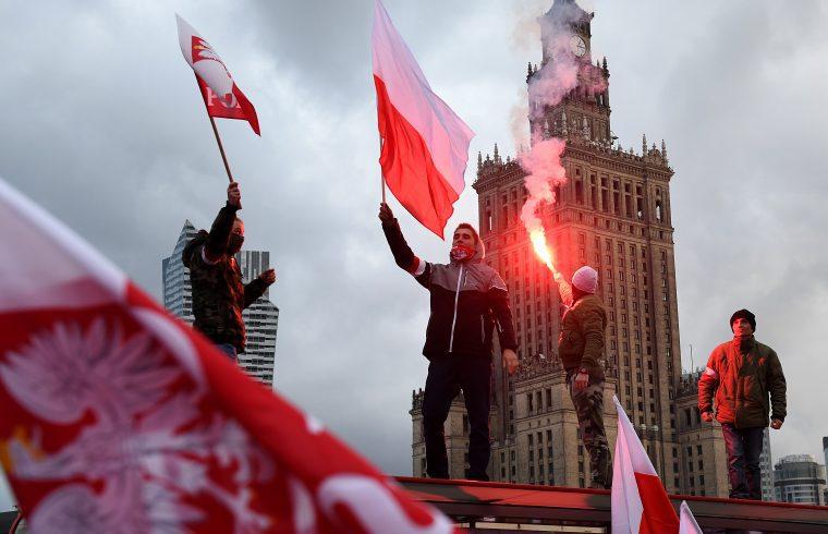 Megemlékezők a Lengyel Függetlenség napján Varsóban, 2017. november 11-én #moszkvater