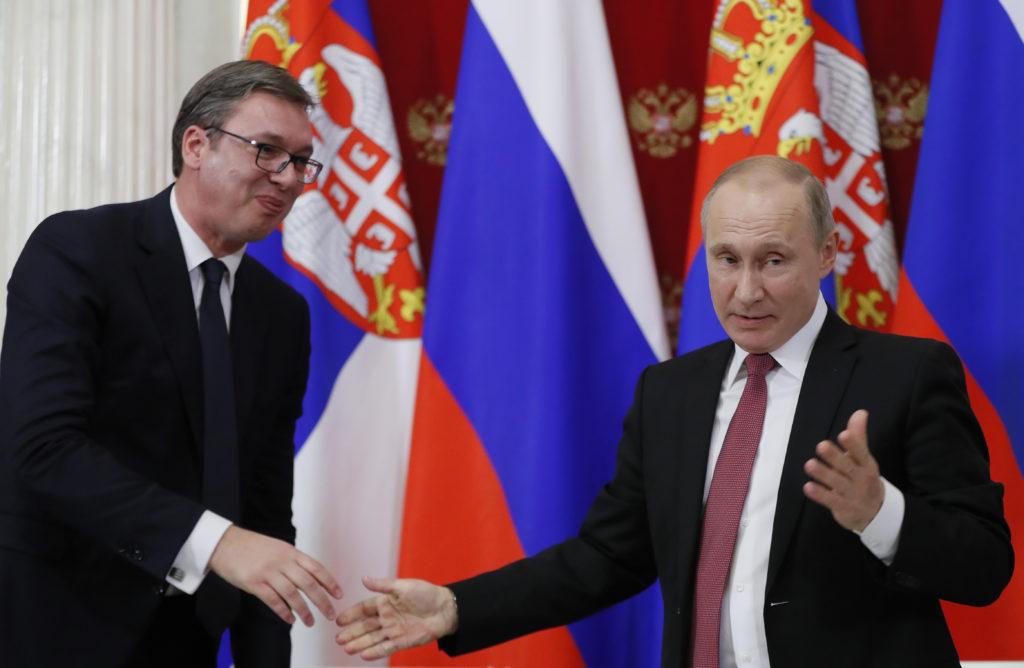 Alekszander Vuciscs és Vlagyimir Putyin egy korábbi találkozójukon 2017. december 19-én, Moszkvában #moszkvater
