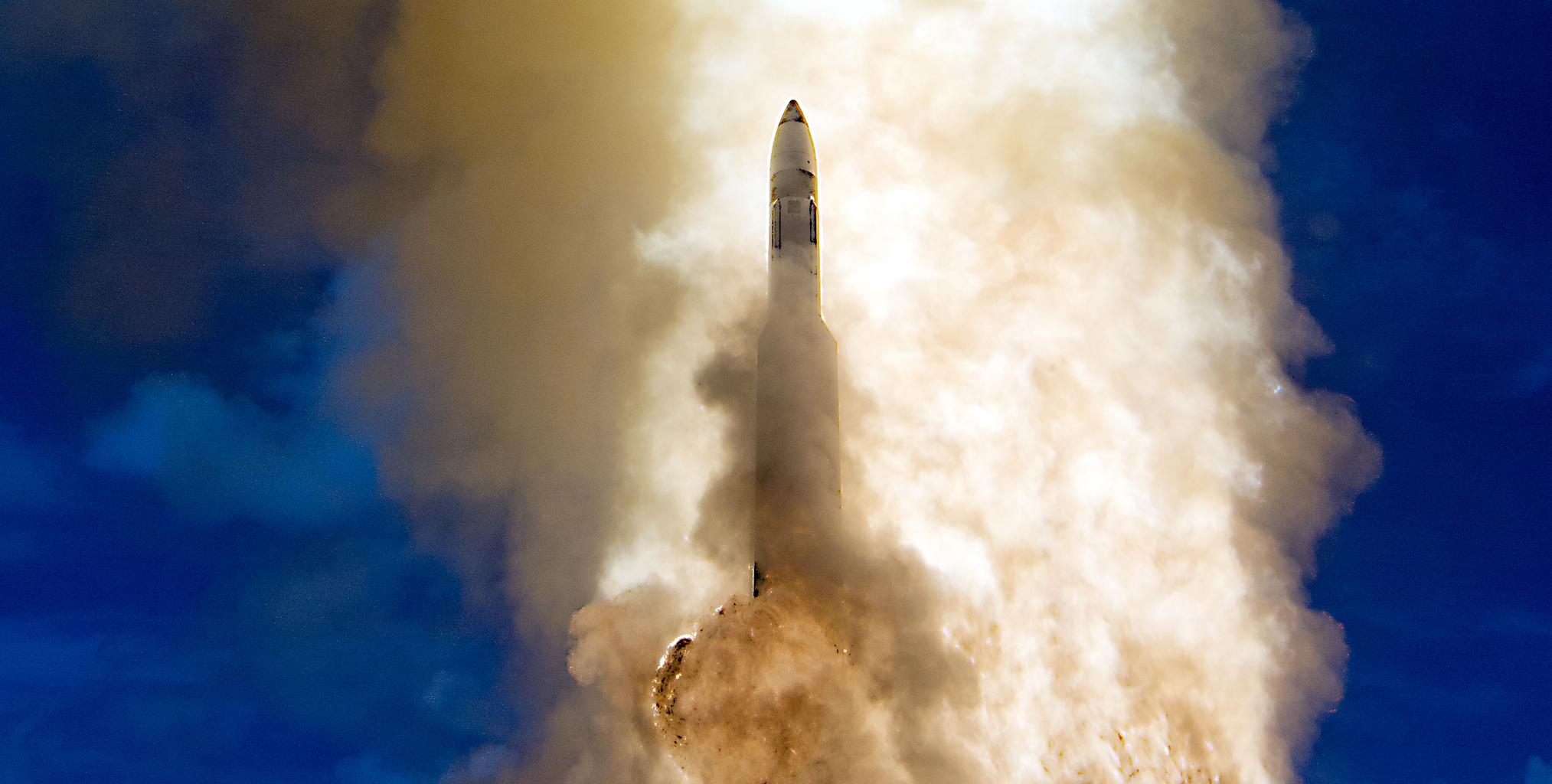 Az AEGIS rendszerben rendszeresített SM-3 nukleáris rakéta tesztje a Hawaii partok közelében 2013. szeptember 18-án Fotó:EUROPRESS/AFP/HANDOUT/US Department of Defense #moszkvater