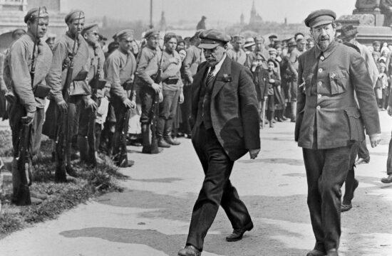 Lenin és Lunacsarszkij 1920. május 1-én Moszkvában #moszkvater