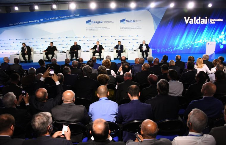 Putyin elnök részvételével zajlott le a tizennegyedik Valdaj Klub záróülése Szocsiban, 2017. október 19-én #moszkvater