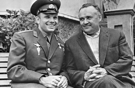 Jurij Gagarin űrhajós és Szergej Koroljov 1963-ban #moszkvater