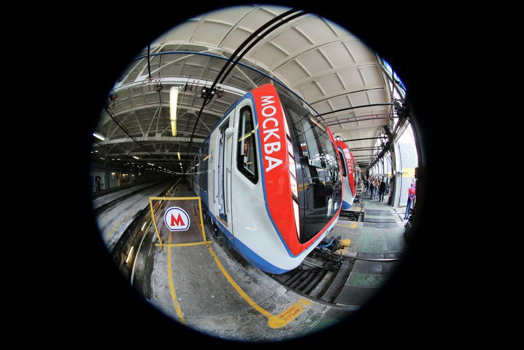A moszkvai metró egy felújított szerelvénye. #moszkvater