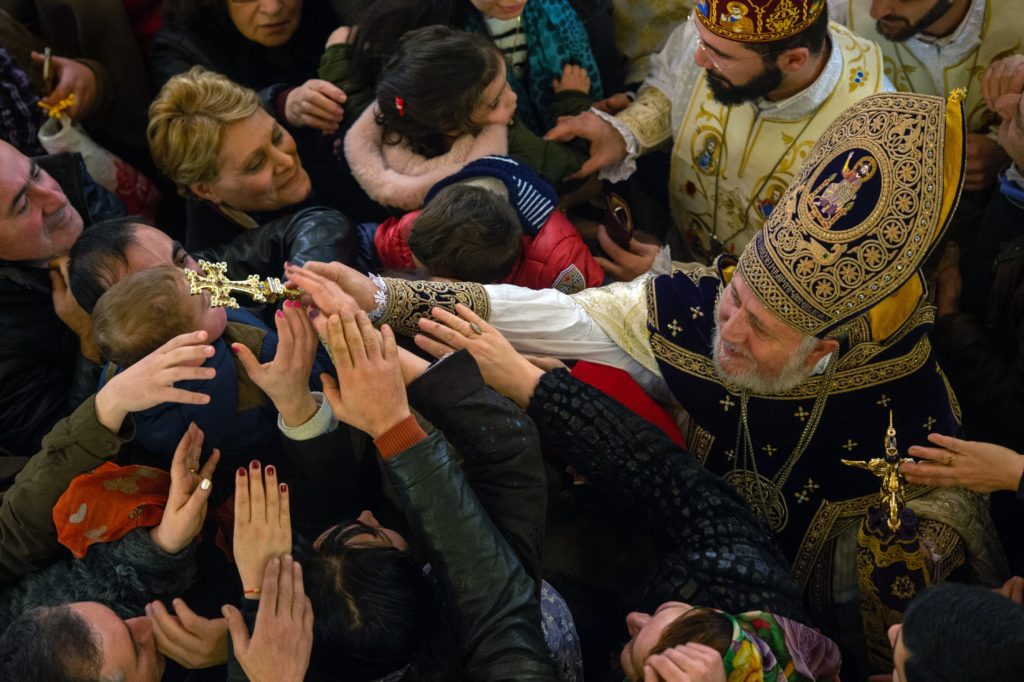 Ortodox karácsonyi liturgia a jereváni Világosító Szent Gergely katedrálisban 2019. január 6-án Fotó:EUROPRESS/AFP/Asatur Yesayants/Sputnik #moszkvater