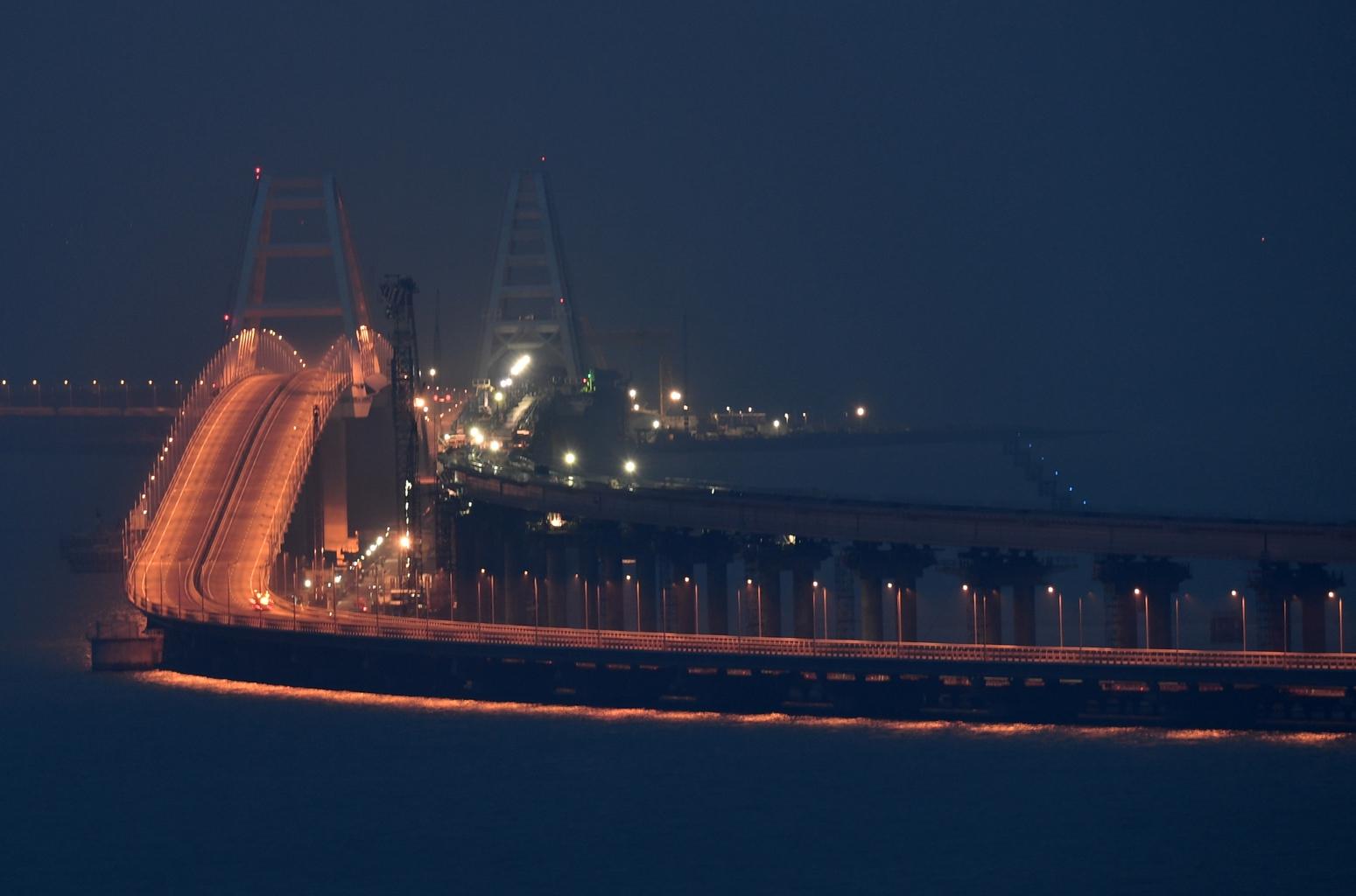 A kercsi-szoros hídja 2019. januárjában #moszkvater