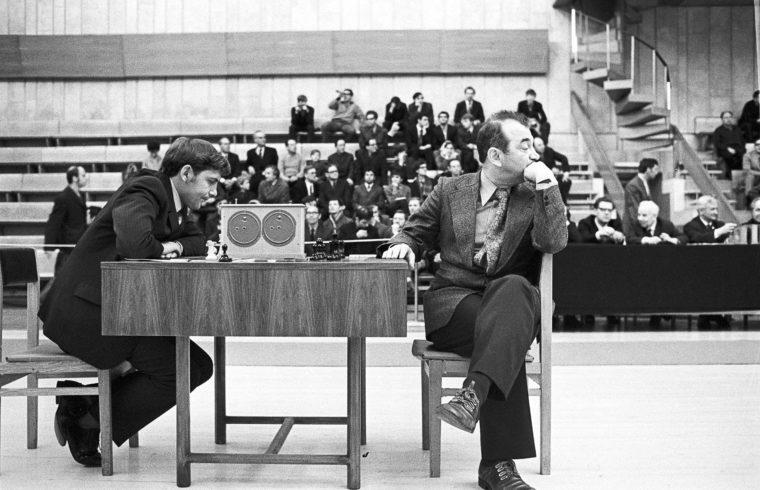 Viktor Korcsnoj (jobbra) és Borisz Kaufman partija az 1973-as szovjet nemzeti bajnokságon #moszkvater