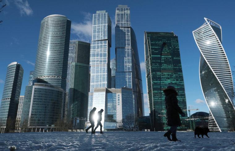Járókelők Moszkva üzleti negyedében #moszkvater