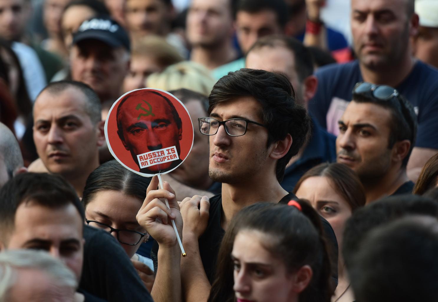 Oroszellenes tüntetés Tbilisziben, Grúzia fővárosában 2019. június 20-án #moszkvater