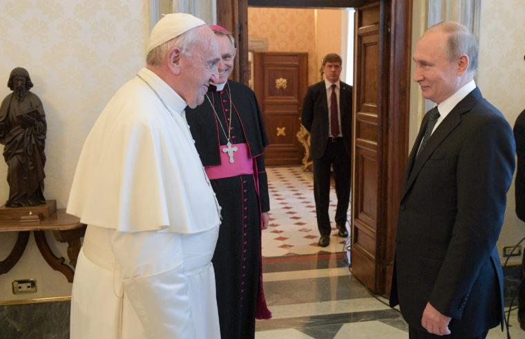 Ferenc pápa és Vlagyimir Putyyin találkozója Rómában 2019. július 4-én #moszkvater