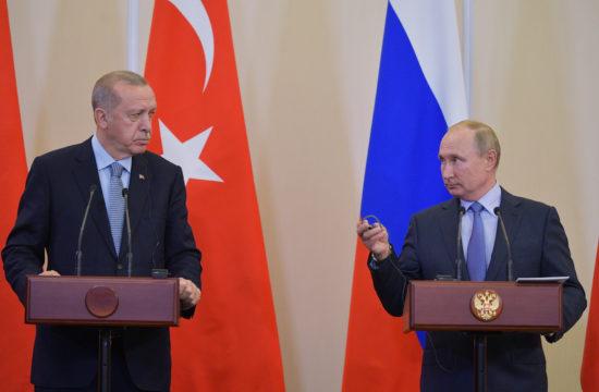 Recep Tayyip Erdoğan és Vlagyimir Putyin sajtótájékoztatója Szocsiban 2019. október 22-én #moszkvater