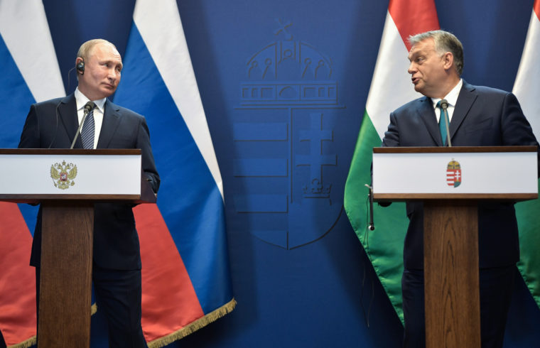 Vlagyimir Putyin orosz elnök és Orbán Viktor miniszterelnök sajtótájékoztatója BUdapesten 2019. október 30-án #moszkvater