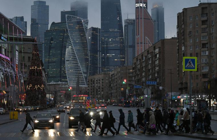 Moszkvai életkép az üzleti negyedben 2020. január 9-én #moszkvater