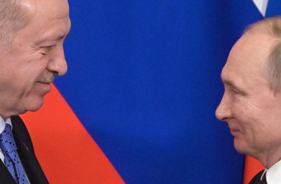 Recep Tayyip Erdogan és Vlagyimir Putyin találkozója a moszkvai Kremlben 2020. március 5-én #moszkvater