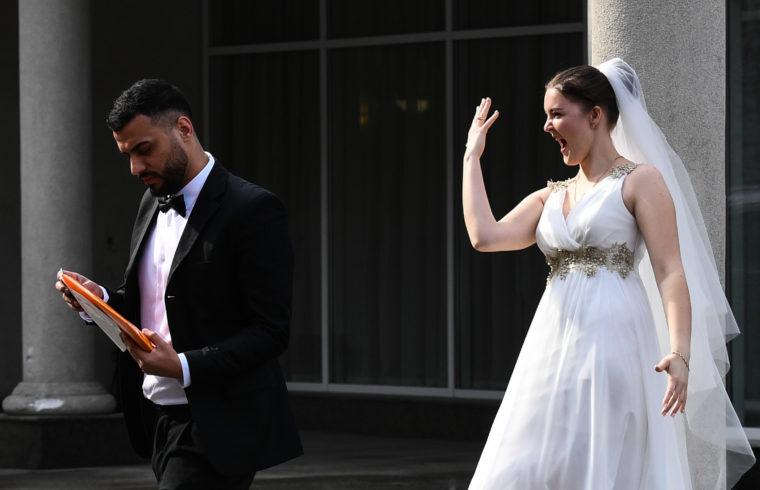 Friss házasok Novoszibirszkben 2020. áprilisában #moszkvater