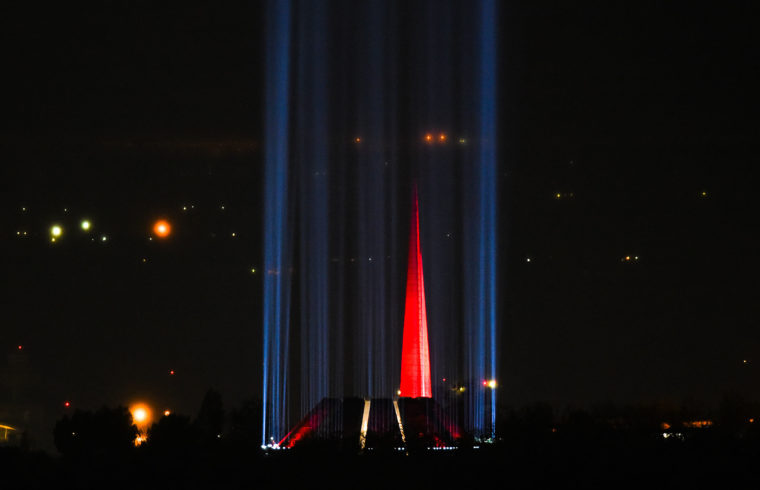 Megemlékezés Jerevánban az Örmény népirtás emlékművénél 2020. április 24-én #moszkvater